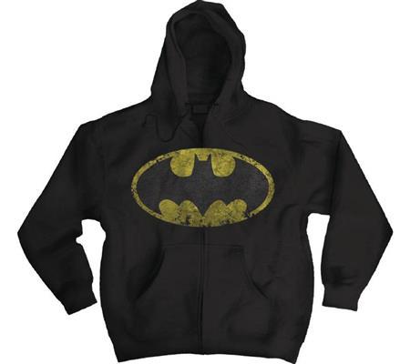 DC HEROES BATMAN LOGO BLACK HOODIE LG (C: 1-1-2)