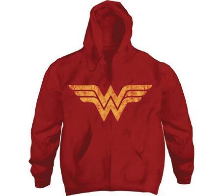 DC HEROES WONDER WOMAN LOGO RED HOODIE LG (C: 1-1-2)
