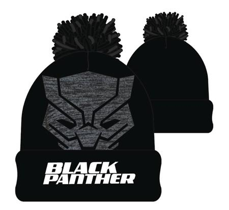 MARVEL BLACK PANTHER CUFF POM BEANIE (C: 1-1-2)