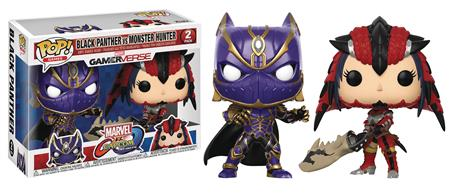 POP MARVEL VS CAPCOM BLACK PANTHER VS MONSTER HUNTER VIN FIG