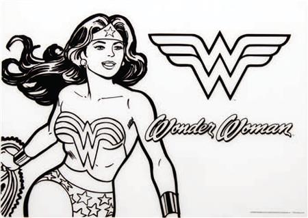 DC COMICS WONDER WOMAN SILICONE COLORING PLACEMAT (C: 1-1-2)