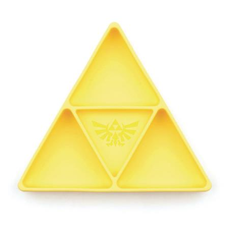 LEGEND OF ZELDA TRIFORCE YELLOW GRIP DISH DIVIDED PLATE (C: