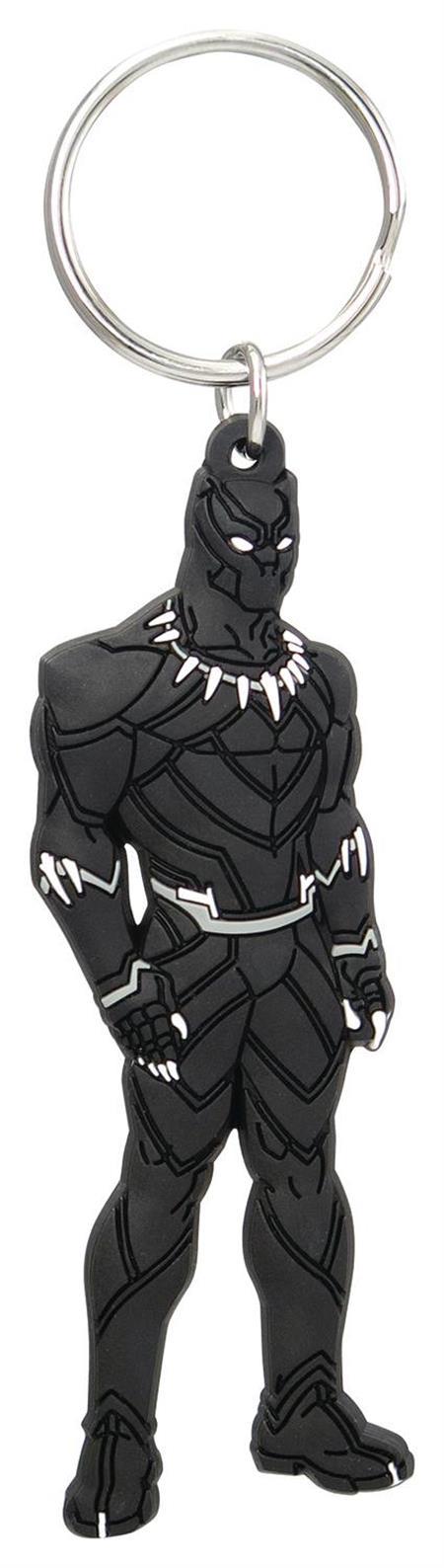 MARVEL BLACK PANTHER SOFT TOUCH PVC KEYRING 6PC BAG (C: 1-0-
