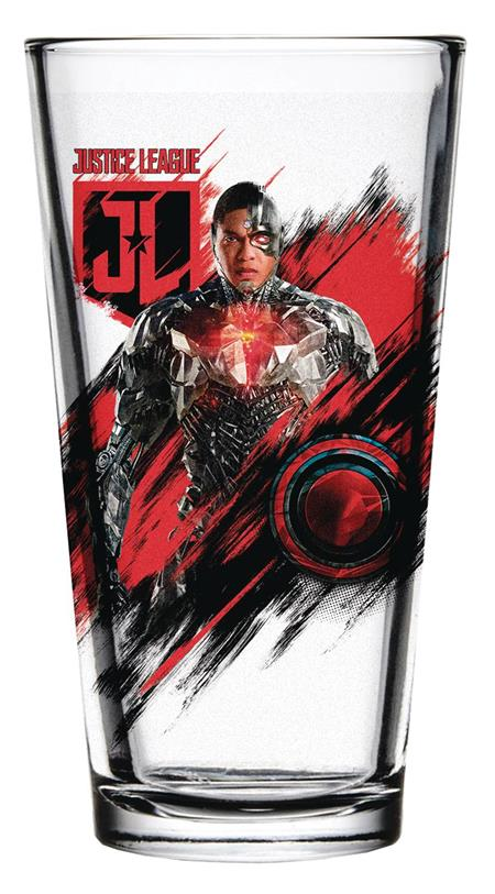 JUSTICE LEAGUE MOVIE CYBORG PINT GLASS (C: 1-1-2)