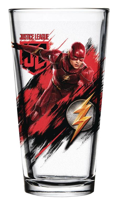 JUSTICE LEAGUE MOVIE FLASH PINT GLASS (C: 1-1-2)