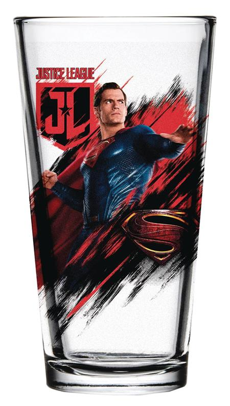 JUSTICE LEAGUE MOVIE SUPERMAN PINT GLASS (C: 1-1-2)