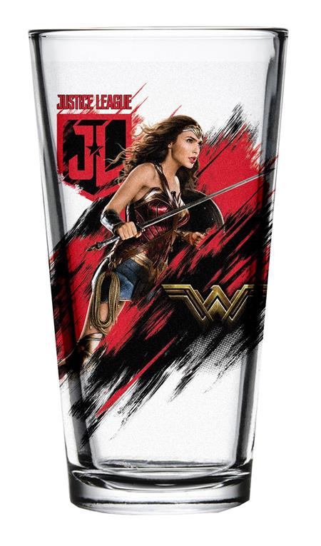 JUSTICE LEAGUE MOVIE WONDER WOMAN PINT GLASS (C: 1-1-2)