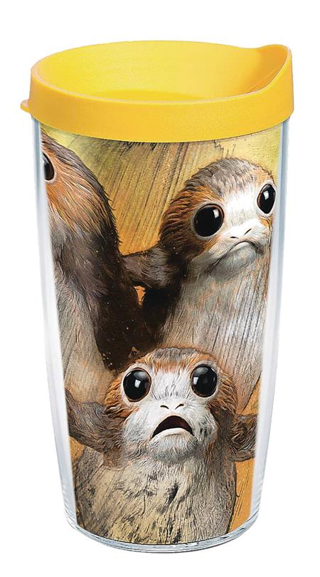 STAR WARS LAST JEDI PORG 16OZ TUMBLER W/ YELLOW LID (C: 1-1-