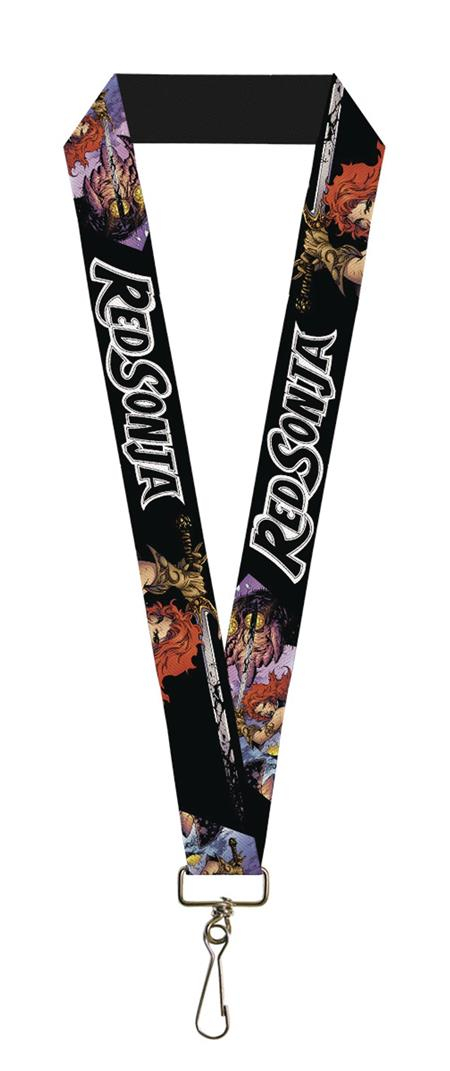 RED SONJA SWORD ACTION FACE LANYARD (C: 1-1-0)