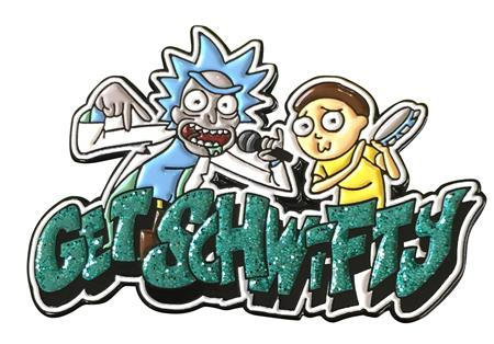 RICK AND MORTY GET SCHWIFTY LAPEL PIN (C: 1-0-2)