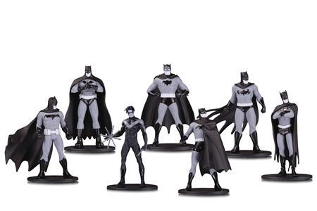 BATMAN BLACK & WHITE MINI PVC FIGURE 7 PACK SET ONE