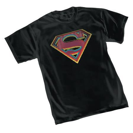 DC HEROES SUPERMAN STRESS SYMBOL T/S LG (C: 1-1-0)