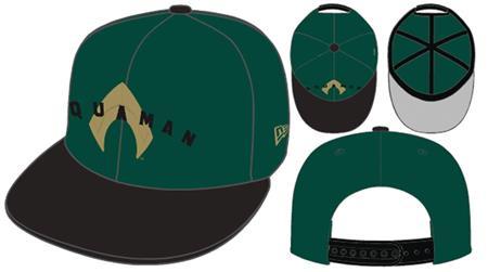 AQUAMAN MOVIE DARK GREEN 9FIFTY SNAP BACK CAP (C: 1-1-2)