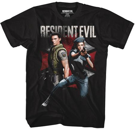 RESIDENT EVIL CHRIS AND JILL T/S LG (C: 1-1-2)