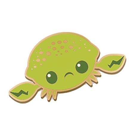 INKI-DROP LIME CRAB ENAMEL PIN (C: 1-1-2)