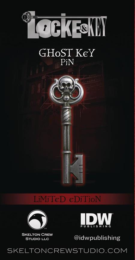 LOCKE & KEY GHOST KEY LIMITED EDITION ENAMEL PIN (C: 1-1-2)