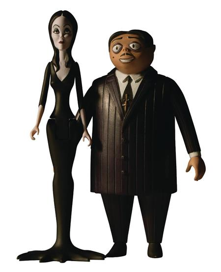 5 POINTS ADDAMS FAMILY MORTICIA/GOMEZ 6PC SOLID FIG CASE (C: