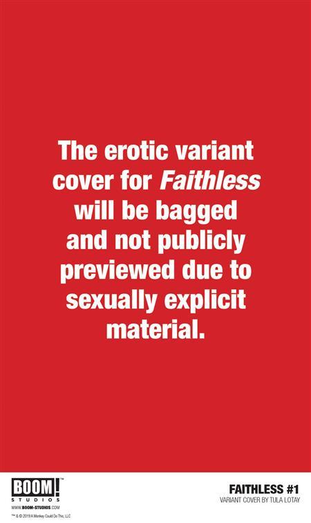 FAITHLESS #1 (OF 5) PREORDER LOTAY EROTICA VAR (MR) (NOTE PR