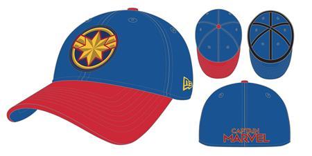 CAPTAIN MARVEL MOVIE ROYAL & RED PX NEO 3930 FLEXFIT CAP (C: