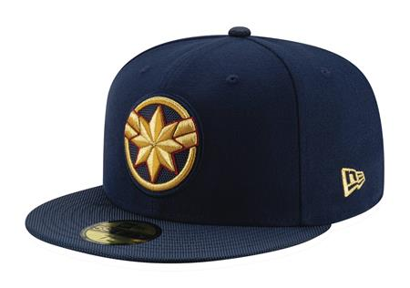 CAPTAIN MARVEL MOVIE LOGO FITTED CAP 7 1/2 (C: 1-1-2)