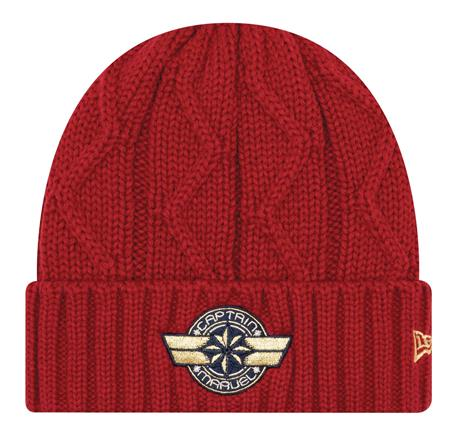 CAPTAIN MARVEL CABLE KNIT CUFF BEANIE (C: 1-1-2)