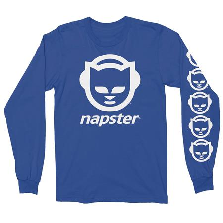NAPSTER BLUE LONG SLEEVE T/S LG (C: 1-1-0)