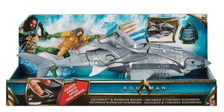 AQUAMAN MOVIE 6IN AF & WARRIOR SHARK CS (Net) (C: 1-1-2)