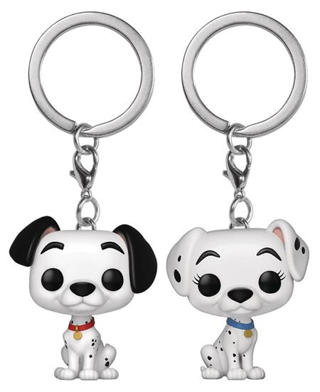 POP KEYCHAIN DALMATIONS PONGO & PERDITA 2PK VIN FIG (C: 1-1-