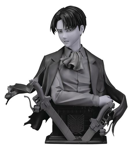ATTACK ON TITAN LEVI 1/3 PMMA & PU STATUE GRAY VER (C: 1-1-2