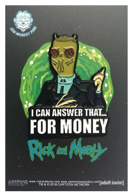 RICK AND MORTY FOR MONEY QUOTE PIN (C: 1-1-2)