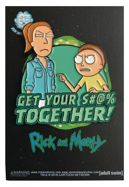 RICK AND MORTY GET IT TOGETHER PIN (C: 1-1-2)