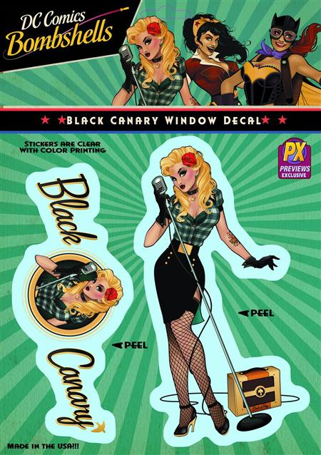 DC BOMBSHELLS BLACK CANARY PX VINYL DECAL (C: 1-1-1)
