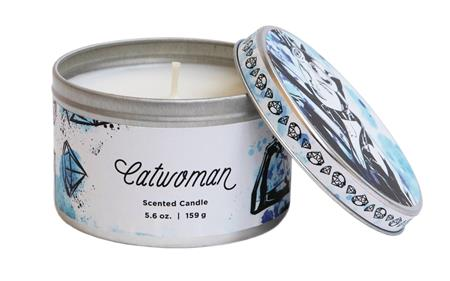 DC HEROES CATWOMAN 5.6OZ SCENTED CANDLE TIN (C: 1-1-2)
