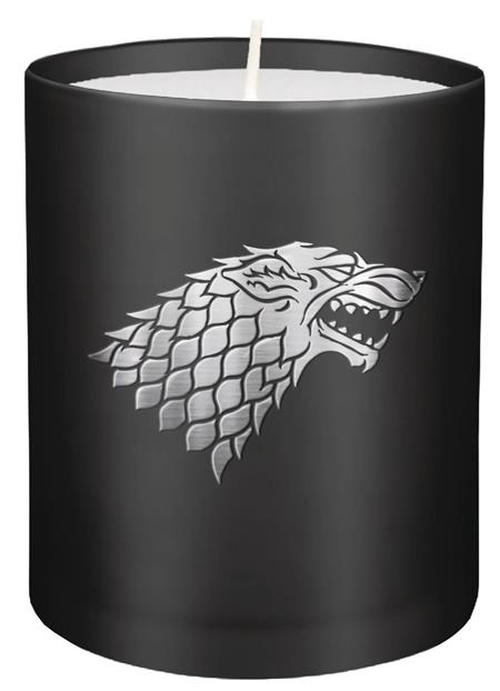 GAME OF THRONES STARK GLASS CANDLE (C: 1-1-2)