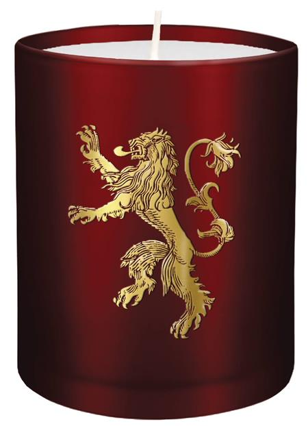 GAME OF THRONES LANNISTER GLASS CANDLE (C: 1-1-2)