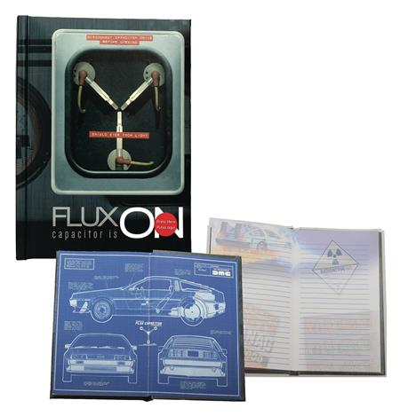 BACK TO THE FUTURE FLUX CAPACITOR LIGHT UP NOTEBOOK (C: 1-1-