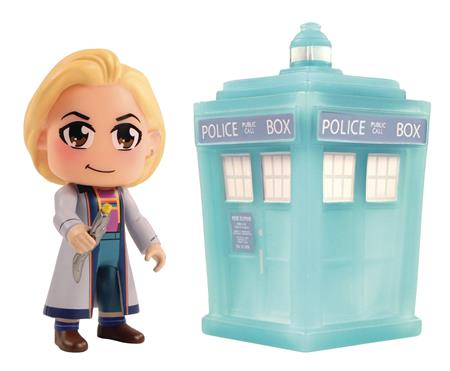 DW TITANS CON EXCLUSIVE 13TH DOCTOR & TARDIS 3IN FIG 2PK SET