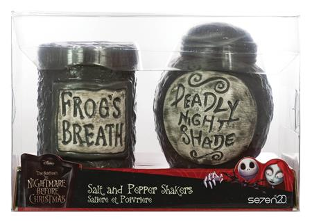 NBX NIGHT SHADE & FROGS BREATH FIGURAL SALT & PEPPER SHAKERS
