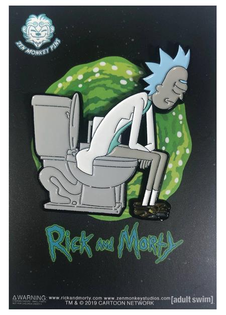 RICK AND MORTY RICK ON THRONE PIN (C: 1-1-2)