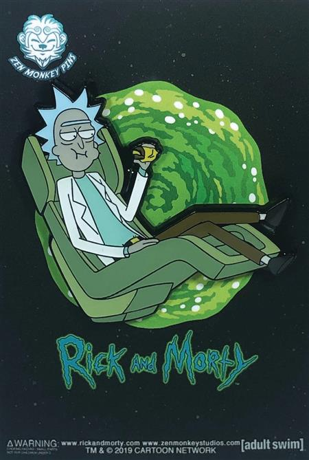 RICK AND MORTY FLOATING RICK CHAIR PIN (C: 1-1-2)