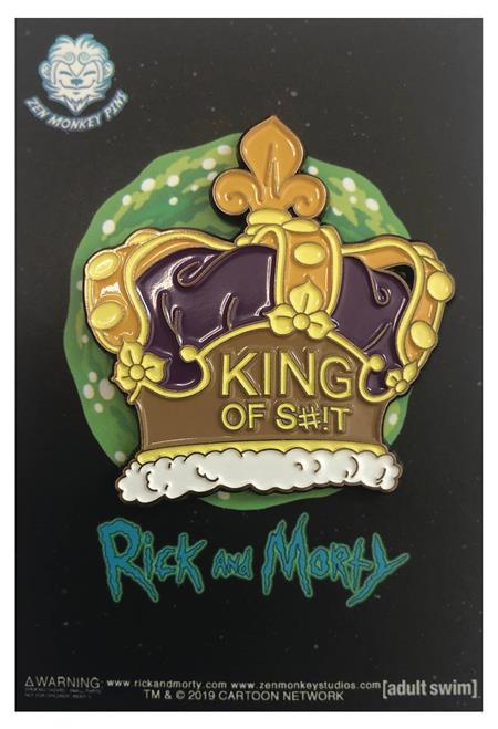 RICK AND MORTY RICKS CROWN PIN (C: 1-1-2)