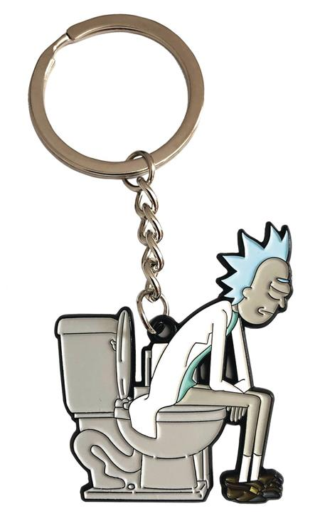 RICK AND MORTY RICK ON THRONE KEYCHAIN (C: 1-1-2)