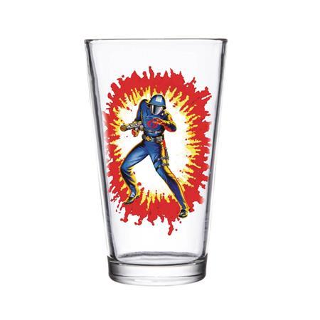 SUPER 7 GI JOE COBRA COMMANDER PINT GLASS (C: 1-1-2)