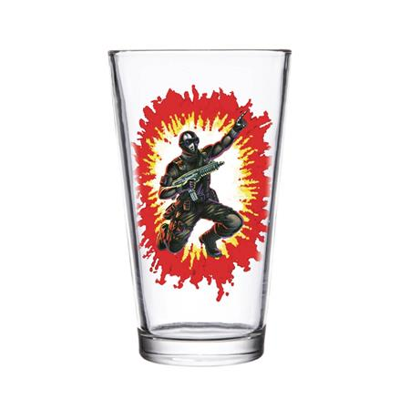 SUPER 7 GI JOE SNAKE EYES PINT GLASS (C: 1-1-2)