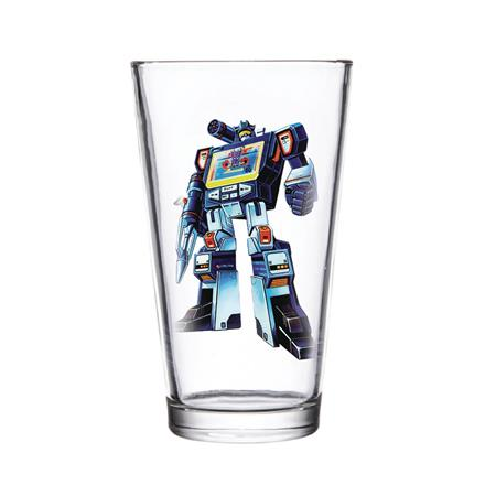 SUPER 7 TRANSFORMERS SOUNDWAVE PINT GLASS (C: 1-1-2)