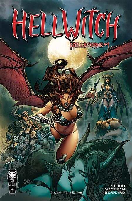 HELLWITCH HELLBOURNE #1 BLACK & WHITE ED (MR)