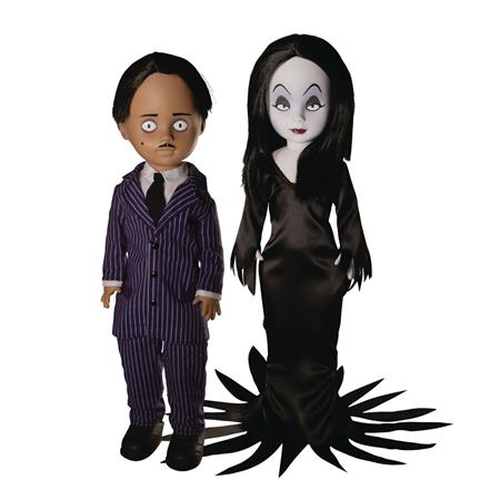 LIVING DEAD DOLLS ADDAMS FAMILY GOMEZ & MORTICIA DOLL SET (C