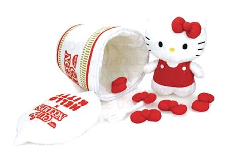 HELLO KITTY X NISSIN CUP NOODLE FORK & BOW INTERACTIVE PLUSH
