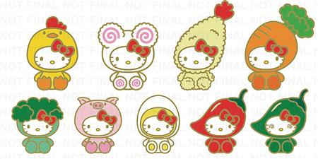 NISSIN CUP NOODLES X HELLO KITTY ENAMEL PINS 20PC BMB DS (C: