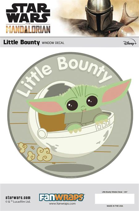 SW MANDALORIAN LITTLE BOUNTY WINDOW DECAL (C: 1-1-0)